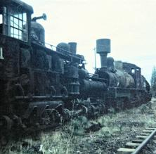 July 24th 1961 - Feather River Shortline Railroad, Quincy, CA, Taken by Bill Penland