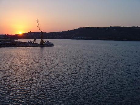 July 6, 2005 - Sunset On Our Last Day On Crete